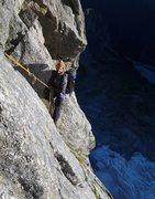 Rock Climbing Photo: Intermediate belay -- often we just climbed until ...