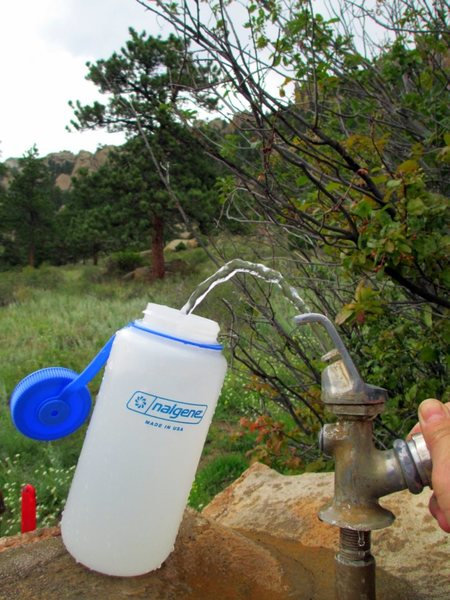 Whoa, a water fountain along a trail? How refreshing is that? : )<br> <br>  At Lumpy Ridge August 2012.