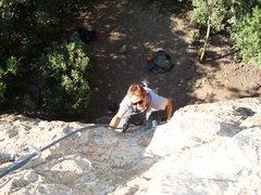 Rock Climbing Photo: Following up.