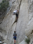 Rock Climbing Photo: Jamming the start