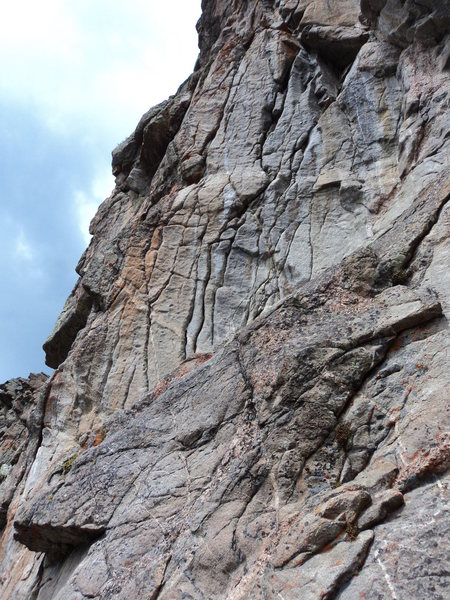 Rock Climbing Photo: Some interesting looking rock to the left with at ...