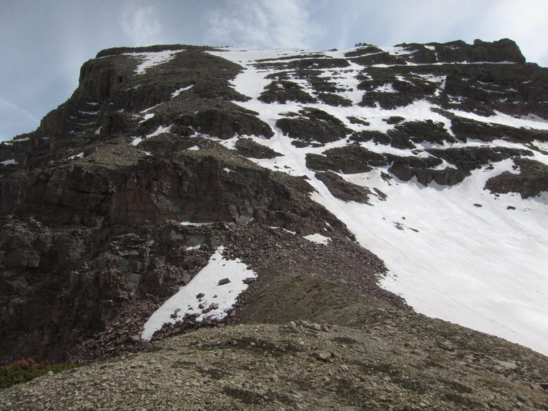Rock Climbing Photo: Pine Beetle couloir is on the left (East) side of ...