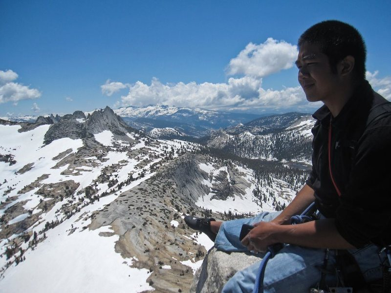 Atop Cathedral Peak in Yosemite
