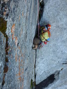 Rock Climbing Photo: the only splitter part of the climb. Mike still be...