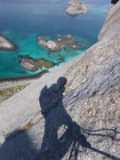 Rock Climbing Photo: about half way up 'Vestpillaren', 450 meters, 5.10...