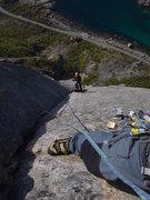 Rock Climbing Photo: 'Vestpillaren', Presten, Lofoten Islands, Norway J...