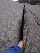 Rock Climbing Photo: yeah, that's a nice crack.. and they keep going fo...