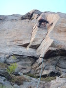 Rock Climbing Photo: leading very nice route, 'Gamla Rev', Norwegian gr...