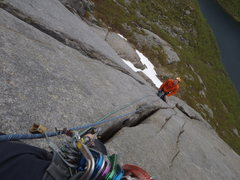 Rock Climbing Photo: on 'Bare Blobaer' ('only blueberries, a Norwegian ...