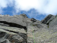 Rock Climbing Photo: crux on Stetind's 'Sydpillaren', a beautiful 5.10 ...