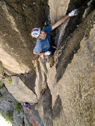 Rock Climbing Photo: Jack Jefferies on Pitch 2 of Pent Up.