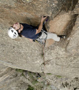 Rock Climbing Photo: Jason Nelson gets ready for the crux of Pent Up.