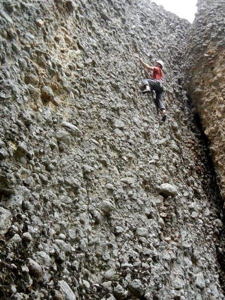 Rock Climbing Photo: Chris Magerl leads Rebar & Rakes