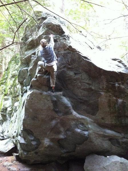 Rock Climbing Photo: Finish on jugs
