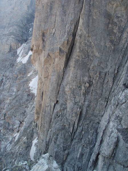 Rock Climbing Photo: L to Right.  Emotional Rescue, Lowe Route and High...
