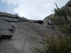 Rock Climbing Photo: Toproping the corner variation