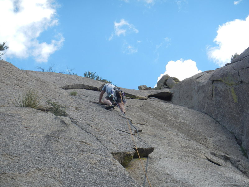 Rock Climbing Photo: Leading the Flake
