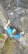 Rock Climbing Photo: Bringing Martin up through the crux