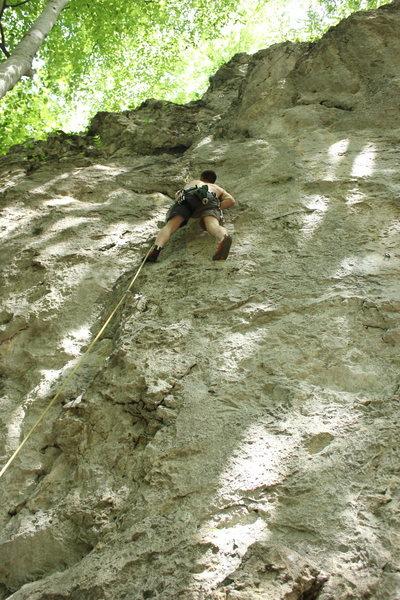 Rock Climbing Photo: Climbing in the shade