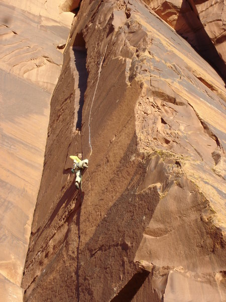 Rock Climbing Photo: time for the fun crack switch