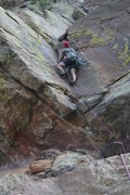 Rock Climbing Photo: Steeper than it looks at first, this pitch will pu...