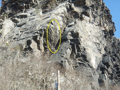 Rock Climbing Photo: From the side, you can see more of the starting sl...