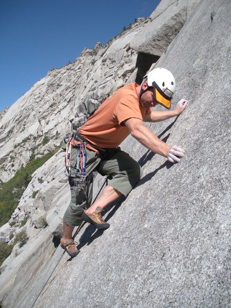 Rock Climbing Photo: Face moves between leaving the crack and reaching ...