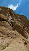 Rock Climbing Photo: Daryl getting ready for the crux move on TTTD/Ewep...