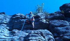 "Rock Climbing Photo: boulder canyon 5""9'"