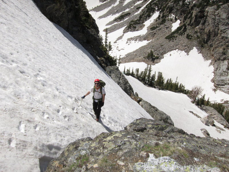 Rock Climbing Photo: David Lenz enjoys the NW Couloir of Symmetry Spire...