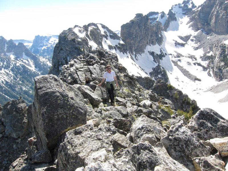 Easy cruising on the summit ridge.