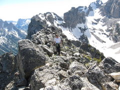 Rock Climbing Photo: Easy cruising on the summit ridge.