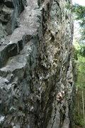 Rock Climbing Photo: Climb the big flake to start.