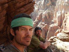 Rock Climbing Photo: Jayci and I at the Football Field Ledge, spring at...