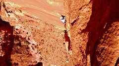 Rock Climbing Photo: Jayci following p4, fall 2011.