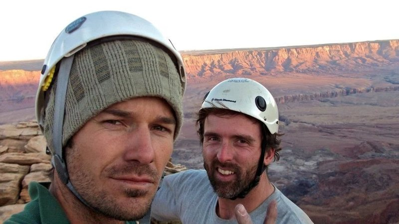 Rock Climbing Photo: On the summit, November 2011.