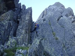 Rock Climbing Photo: Victor starting the climb on the very beginning of...