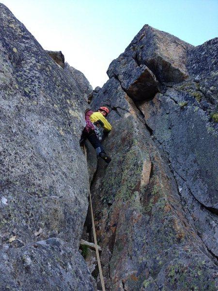 Rock Climbing Photo: Midway through the ridge