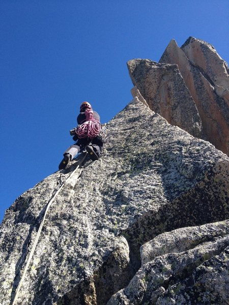 Jordi climbing the 3rd tower
