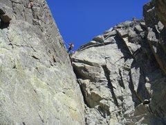 Rock Climbing Photo: Rappeling down