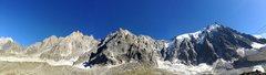 Panoramic view of the Aiguilles du Chamonix from Plan de l'Aiguille