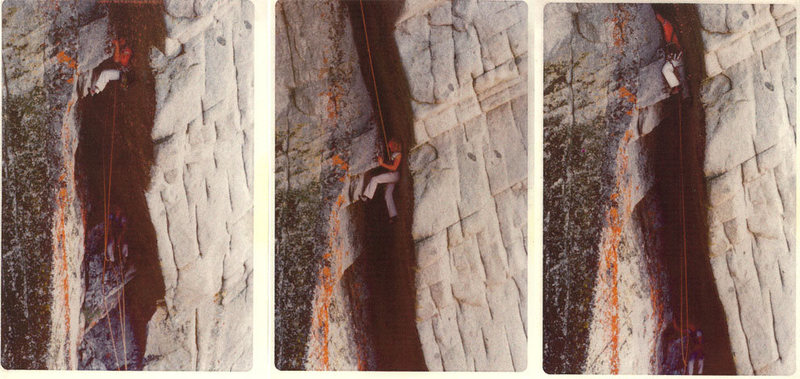 Rock Climbing Photo: George Connor and partner on Eeyore's Enigma