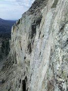 Rock Climbing Photo: P-5 headwall flakes in center of photo