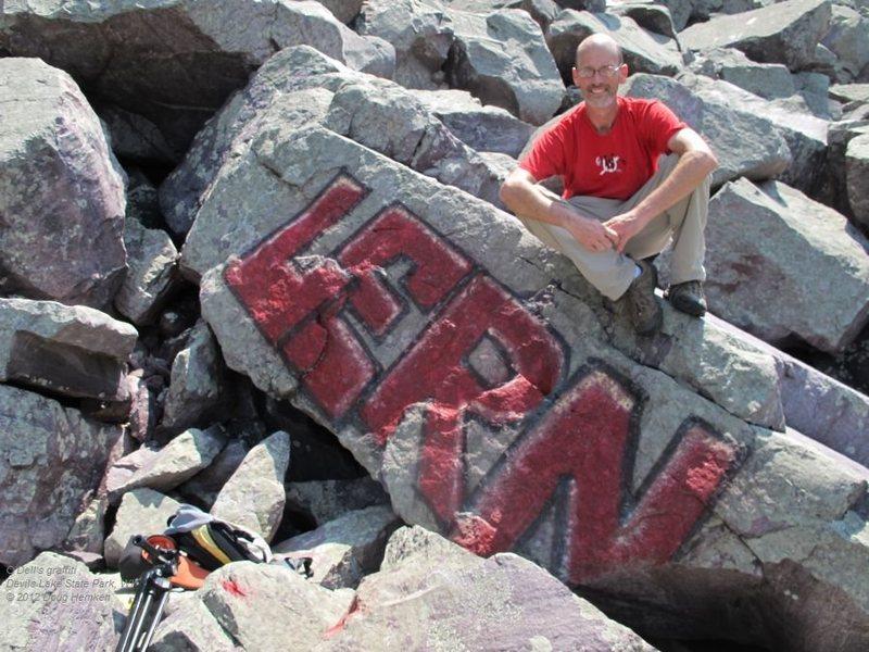 Rock Climbing Photo: Graffiti hunter