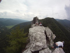 Rock Climbing Photo: Fish eye from the summit of the South Peak