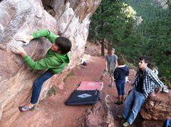 Rock Climbing Photo: Low Monkey Traverse at Flagstaff
