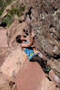 Rock Climbing Photo: Easy up below Tree Slab at Flagstaff