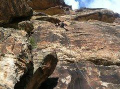 Rock Climbing Photo: Gritlock last move (Tom)