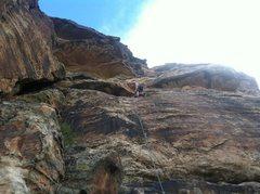 Rock Climbing Photo: Gritlock building the anchor  (Tom)