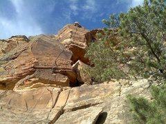 Rock Climbing Photo: True Grit 5.8 (Tom)